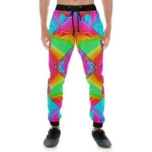 Rainbowdelik Men's All Over Print Sweatpants (Model L11)