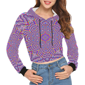 Ethereal All Over Print Crop Hoodie for Women (Model H22)
