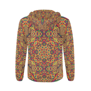 Beauty in Chaos All Over Print Full Zip Hoodie for Men (Model H14)