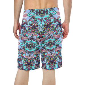 Inner Palace Men's All Over Print Board Shorts (Model L16)