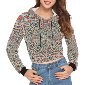 A Warm Place All Over Print Crop Hoodie for Women (Model H22)
