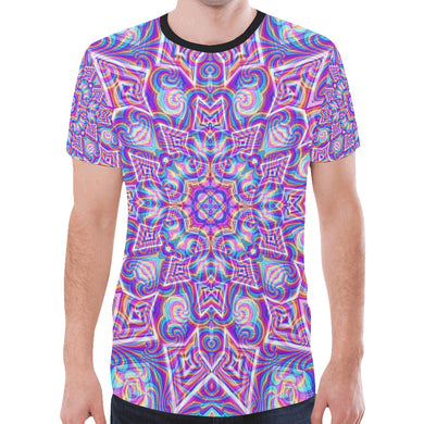 Delicate New All Over Print T-shirt for Men (Model T45)