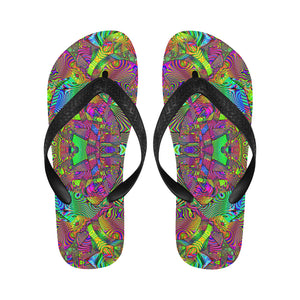Trippydelik Flip Flops for Men/Women (Model 040)