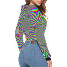 Hypnotizer All Over Print Crop Hoodie for Women (Model H22)