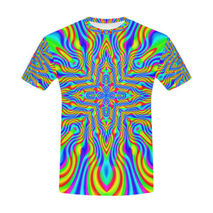 Higher Frequencies All Over Print T-Shirt for Men (USA Size) (Model T40)