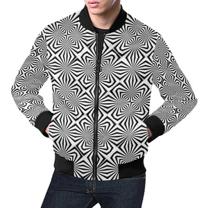 Fiber Optics All Over Print Bomber Jacket for Men (Model H19)
