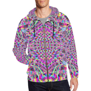 Astonishment All Over Print Full Zip Hoodie for Men (Model H14)