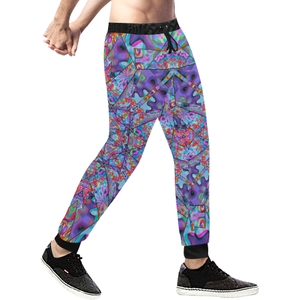 Colorburst Men's All Over Print Sweatpants (Model L11)