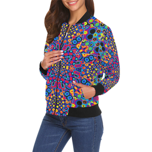 Alien Flora All Over Print Bomber Jacket for Women (Model H19)