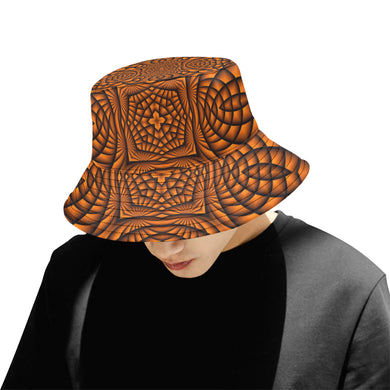 Pumpkin All Over Print Bucket Hat for Men