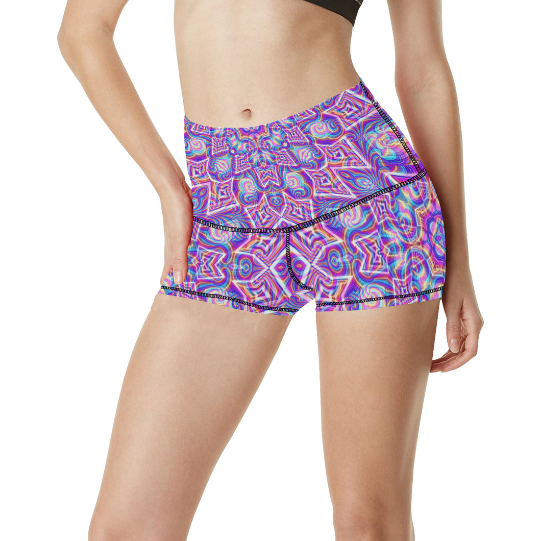 Delicate Women's All Over Print Yoga Shorts (Model L17)