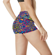Alien Flora Women's All Over Print Yoga Shorts (Model L17)