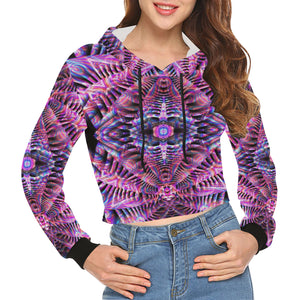 Being All Over Print Crop Hoodie for Women (Model H22)