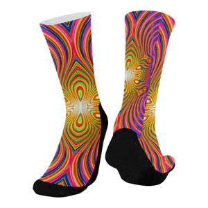 Energy Fields Mid-Calf Socks (Black Sole)