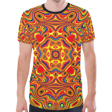 Samsara New All Over Print T-shirt for Men (Model T45)
