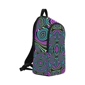 Neon Leafs Fabric Backpack for Adult (Model 1659)