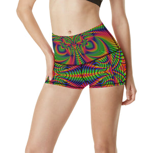 Tropical Women's All Over Print Yoga Shorts (Model L17)