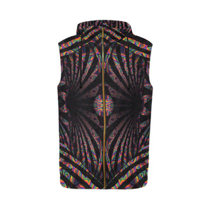Hidden Place All Over Print Sleeveless Zip Up Hoodie for Men (Model H16)