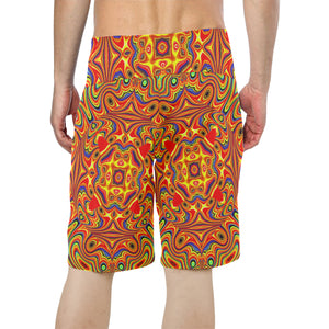 Samsara Men's All Over Print Board Shorts (Model L16)