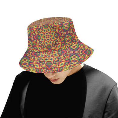 Beauty in Chaos All Over Print Bucket Hat for Men