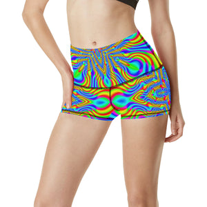 Higher Frequencies Women's All Over Print Yoga Shorts (Model L17)