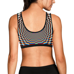 Psychosis Women's All Over Print Sports Bra (Model T52)