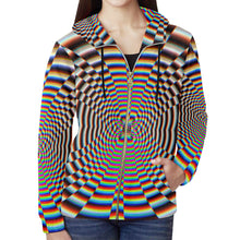 Psychosis All Over Print Full Zip Hoodie for Women (Model H14)