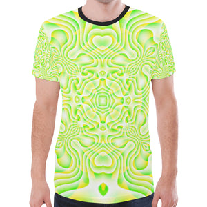 Lemon Lime New All Over Print T-shirt for Men (Model T45)
