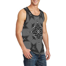 B+W Men's All Over Print Tank Top (Model T57)