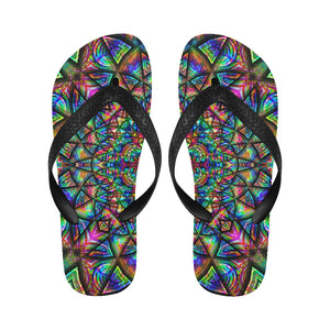 Meditative Thoughts Flip Flops for Men/Women (Model 040)