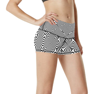 Fiber Optics Women's All Over Print Yoga Shorts (Model L17)