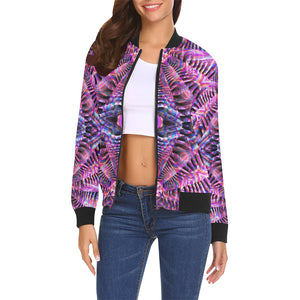 Being All Over Print Bomber Jacket for Women (Model H19)