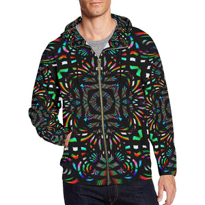 Cathedral All Over Print Full Zip Hoodie for Men (Model H14)