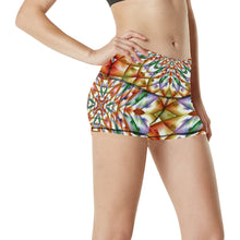 In Bloom Women's All Over Print Yoga Shorts (Model L17)