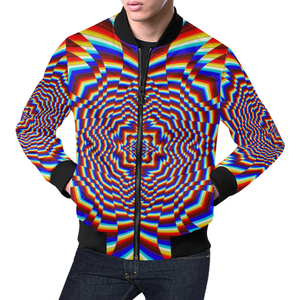 Focused All Over Print Bomber Jacket for Men (Model H19)