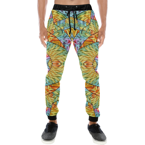 Eye of the Sun Men's All Over Print Sweatpants (Model L11)