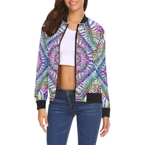 Coral Reefer All Over Print Bomber Jacket for Women (Model H19)