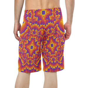 Pure Power Men's All Over Print Board Shorts (Model L16)