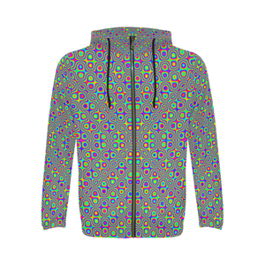 Neuron Stimulator All Over Print Full Zip Hoodie for Men (Model H14)