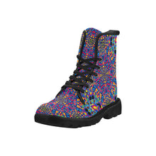 Alien Flora Martin Boots for Men (Black) (Model 1203H)