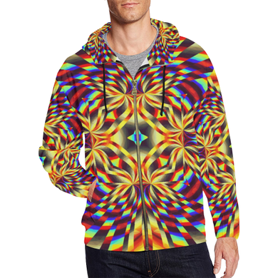 Pure Energy All Over Print Full Zip Hoodie for Men (Model H14)