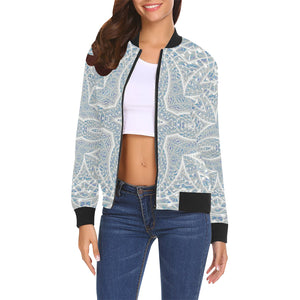 Elemental Air All Over Print Bomber Jacket for Women (Model H19)