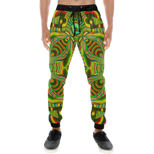 Amazonian Men's All Over Print Sweatpants (Model L11)