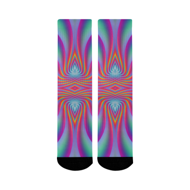 Spiral Factory Mid-Calf Socks (Black Sole)