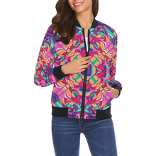 Valhalla All Over Print Bomber Jacket for Women (Model H19)