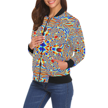 Chrysalis All Over Print Bomber Jacket for Women (Model H19)
