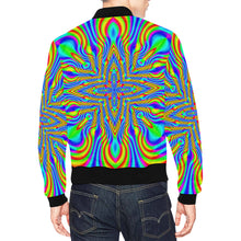 Higher Frequencies All Over Print Bomber Jacket for Men (Model H19)
