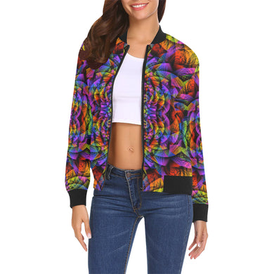 Consciousness All Over Print Bomber Jacket for Women (Model H19)