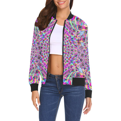 Astonishment All Over Print Bomber Jacket for Women (Model H19)