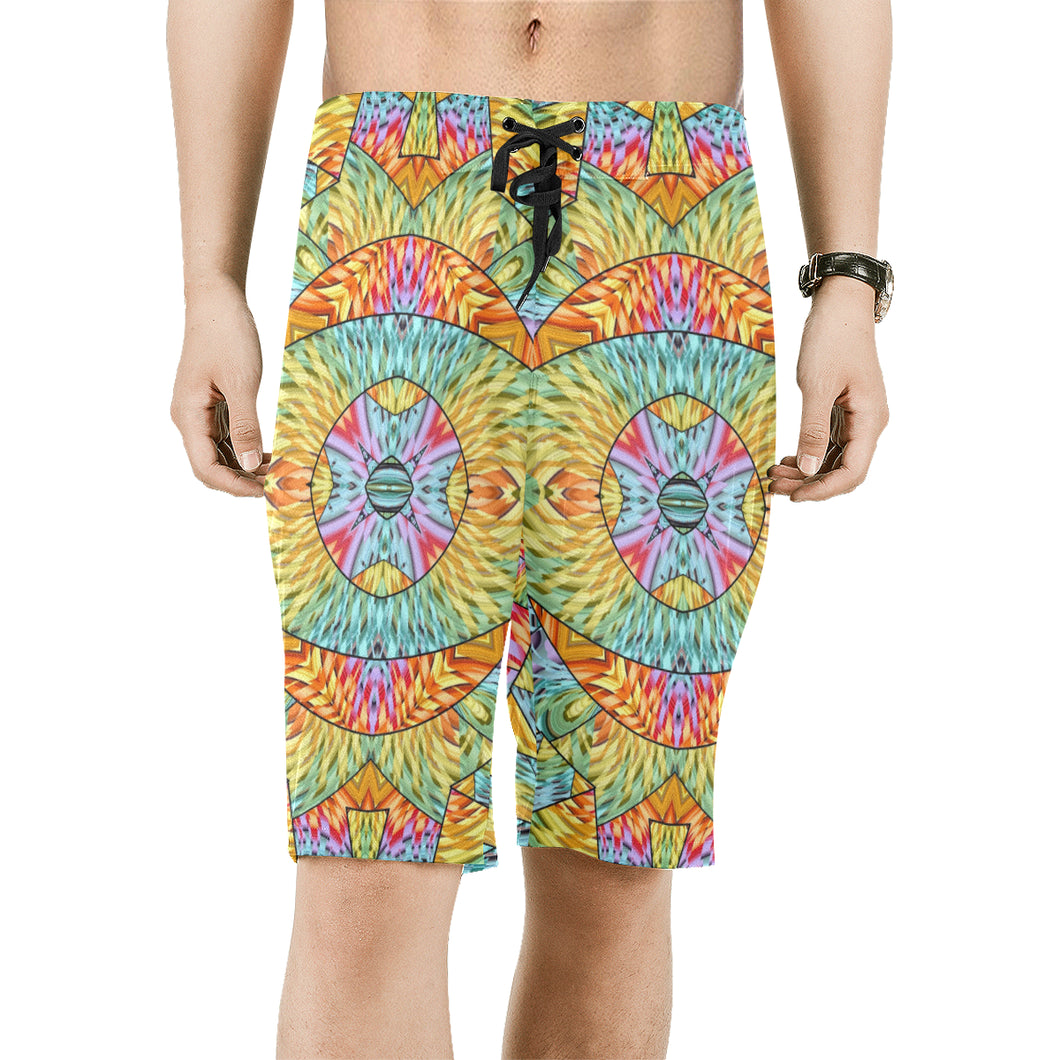 Eye of the Sun Men's All Over Print Board Shorts (Model L16)